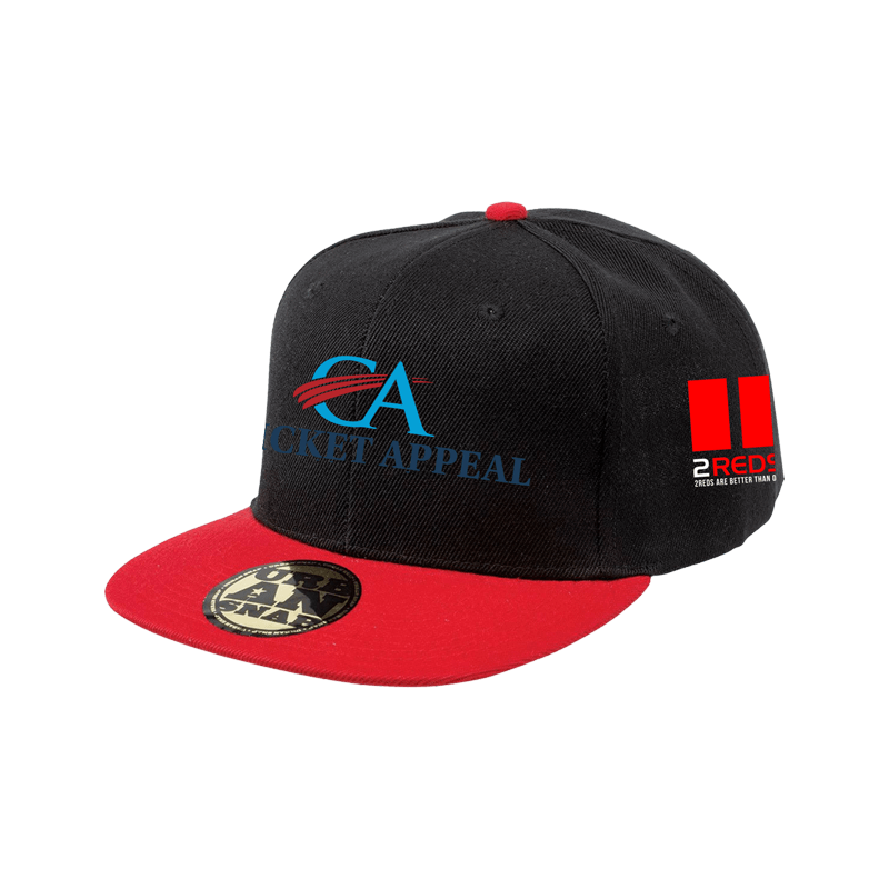 Rugby Appeal Snapback Red Black